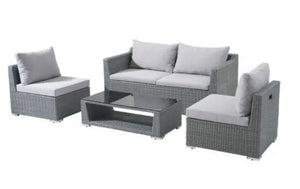 4 Piece Space Saver Wicker Conversation Set