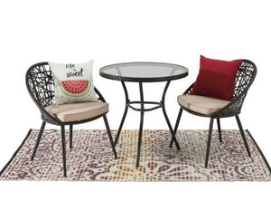 3 Piece Montauk Chat Set, with Cushion
