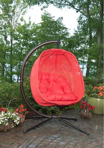 Red Sling Hanging Basket Chair