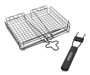 Non Stick Broiler Barbecue Basket, with Detachable Handle