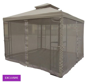 10' x 10' Soft Top Ez Up Gazebo, with Net and LED Lights