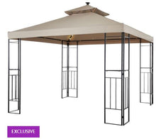 Load image into Gallery viewer, 10' x 10' Soft Top Ez Up Gazebo, with Net and LED Lights