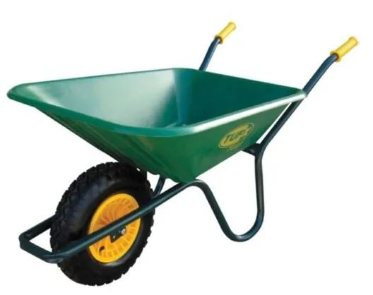 5 Cu. Ft Poly Tray Wheelbarrow