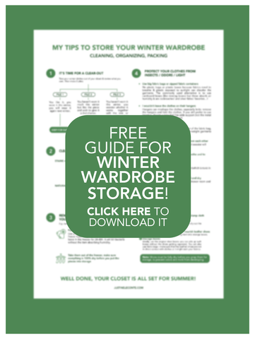 Justine Leconte free guide for winter wardrobe storage and organisation