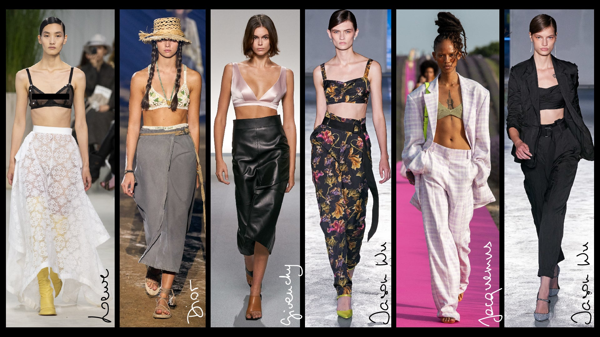Justine Leconte fashion trends 2020 bra tops
