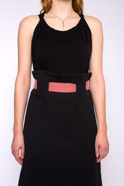 CAMILLE jersey top, black