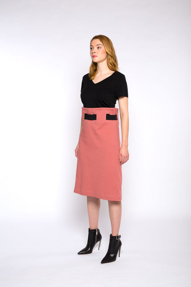 ALICE belted skirt, dusty pink