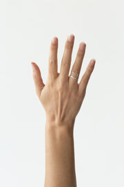 PRE-ORDER Stackable faceted ring