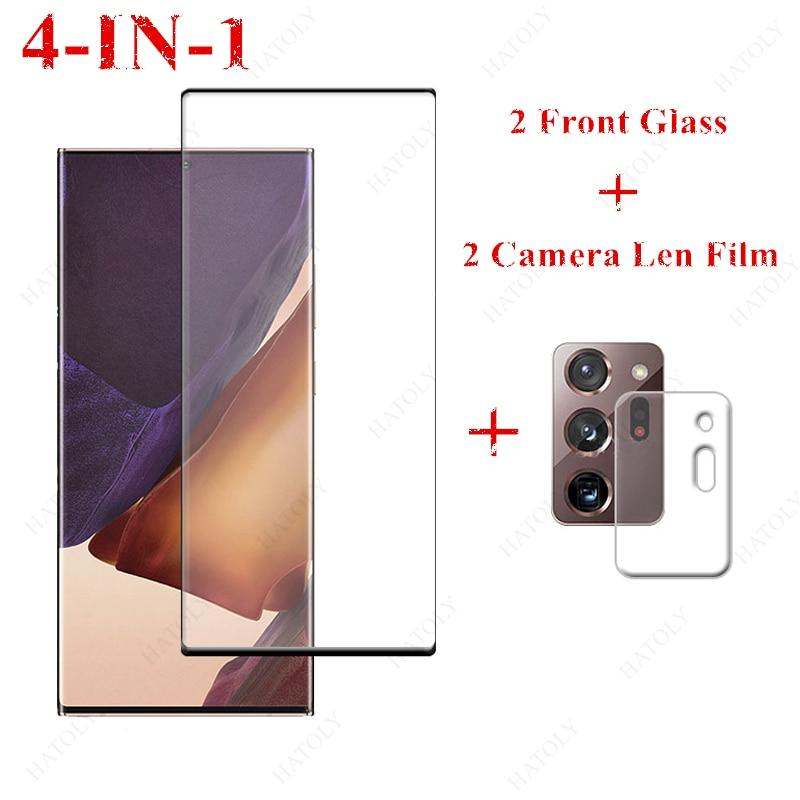 2 pcs Tempered Glass Screen Protector + 2 Free Camera Len Film