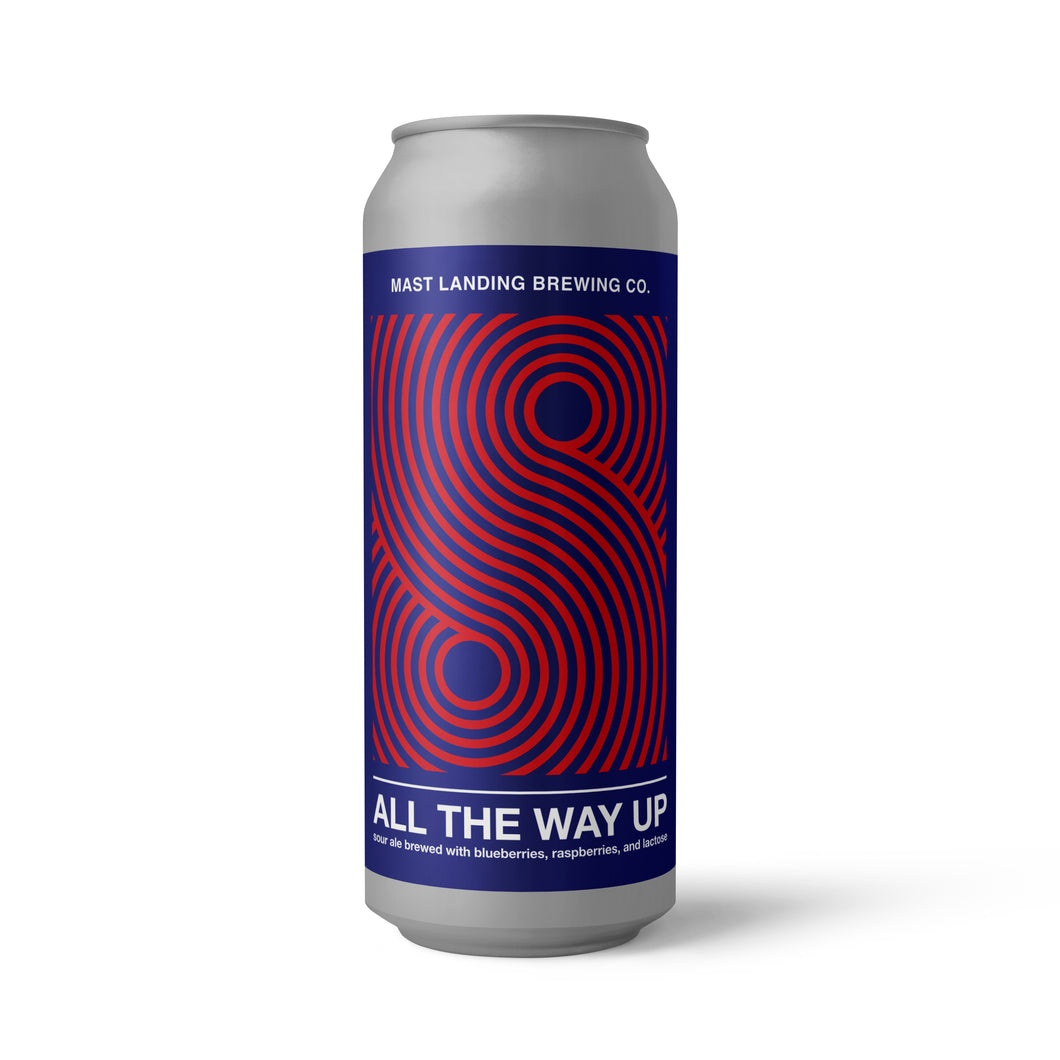 All The Way Up: Sour Ale Brewed with Blueberries, Raspberries and Lactose - 4.8% ABV