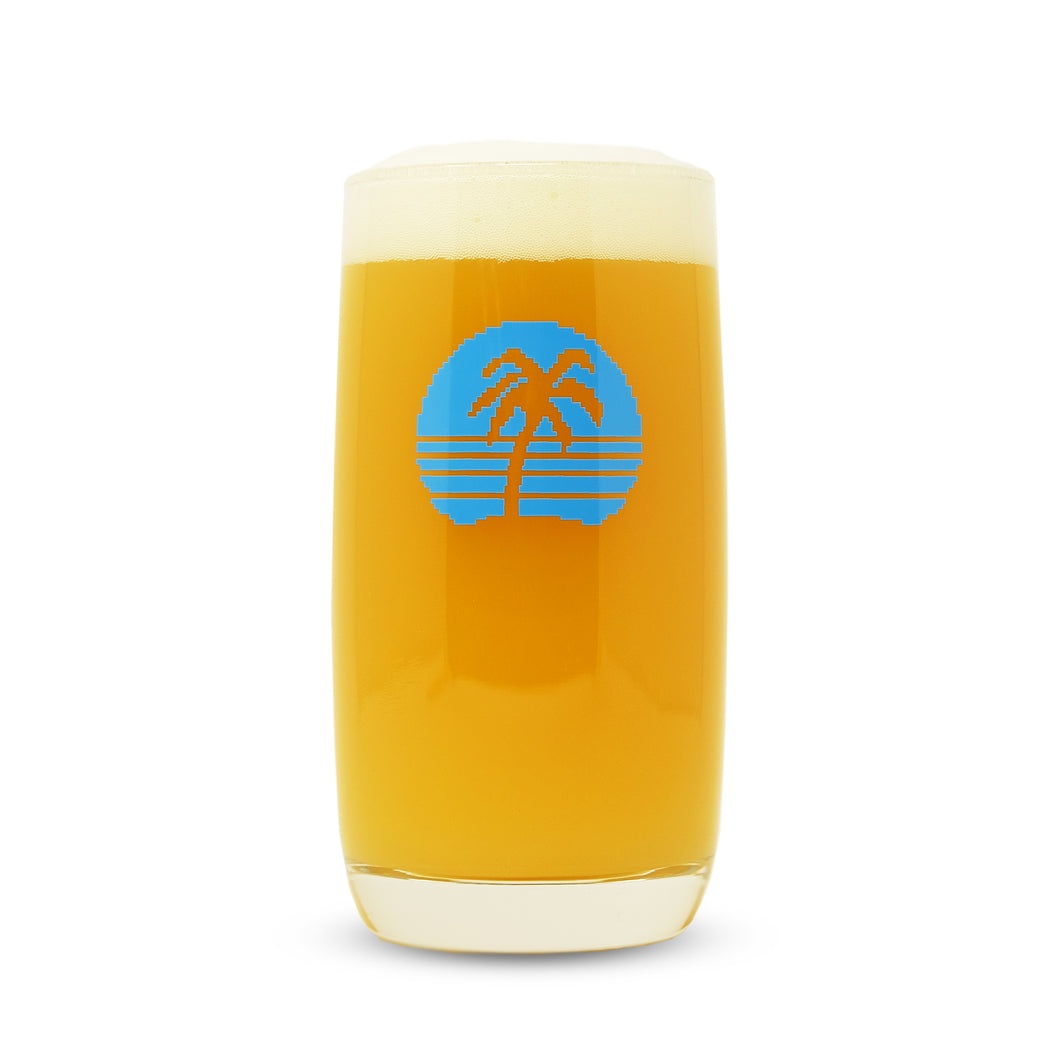 17oz Digital Paradise Glass