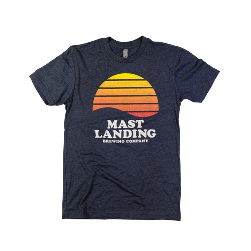 Mast landing sunset design t shirt