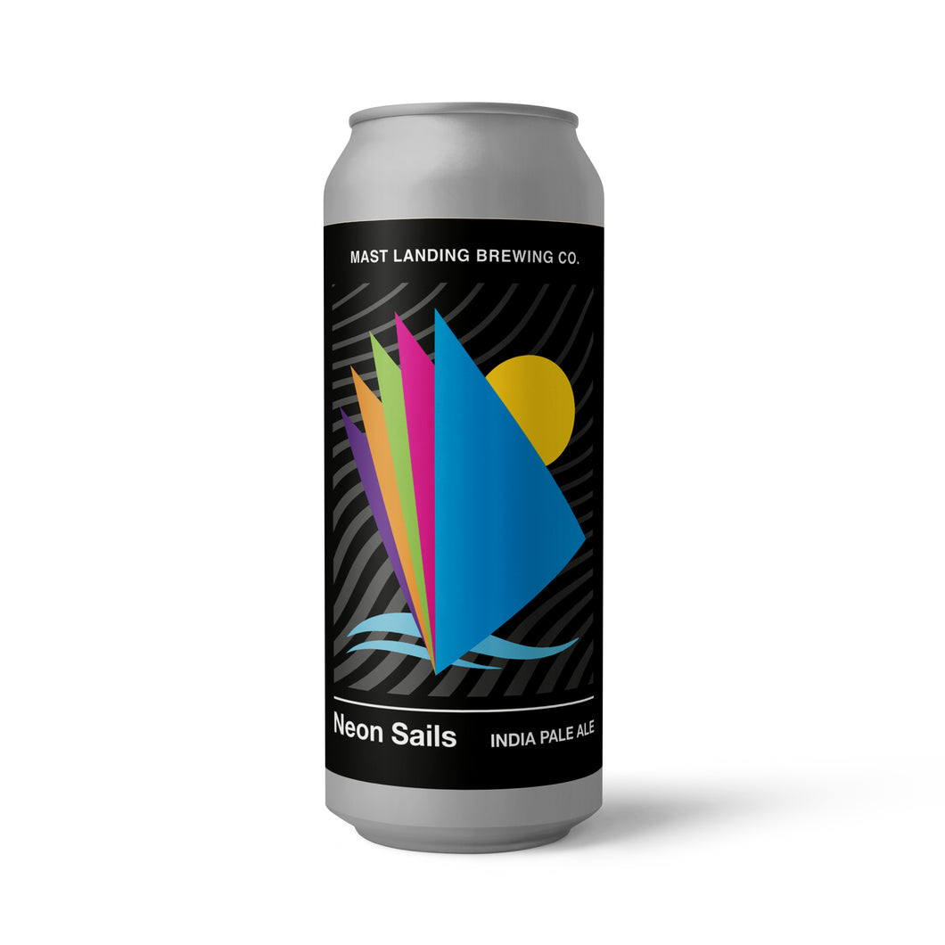 Can of Mast Landing neon sails ipa