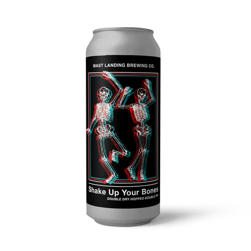 Can of Mast Landing shake up your bones double ipa