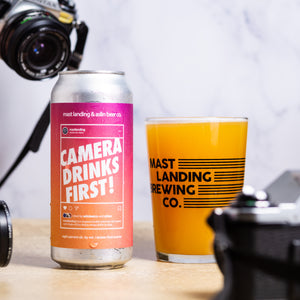 Can and pour of Mast Landing camera drinks first
