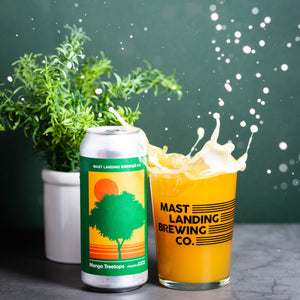 can and pour of mast landing mango treetops