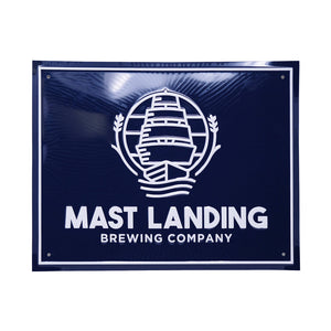 mast landing tin tacker sign