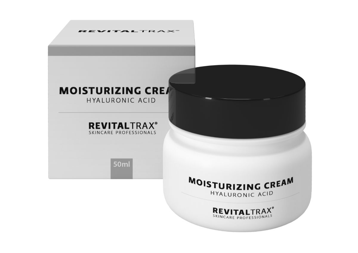 RevitalTrax Moisturizing Cream with Hyaluronic Acid. Moisturizing day and night cream with hyaluronic acid