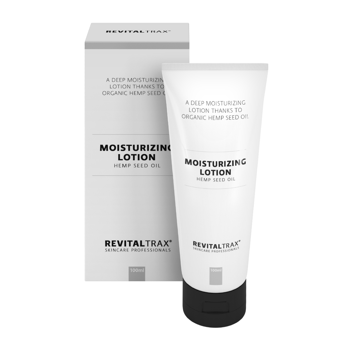 RevitalTrax Moisturizing Lotion. Deeply moisturizing facial lotion with hemp seed oil