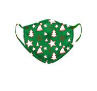 Green Christmas Mask 10 Pack
