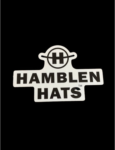 Hamblen Hats Window decal