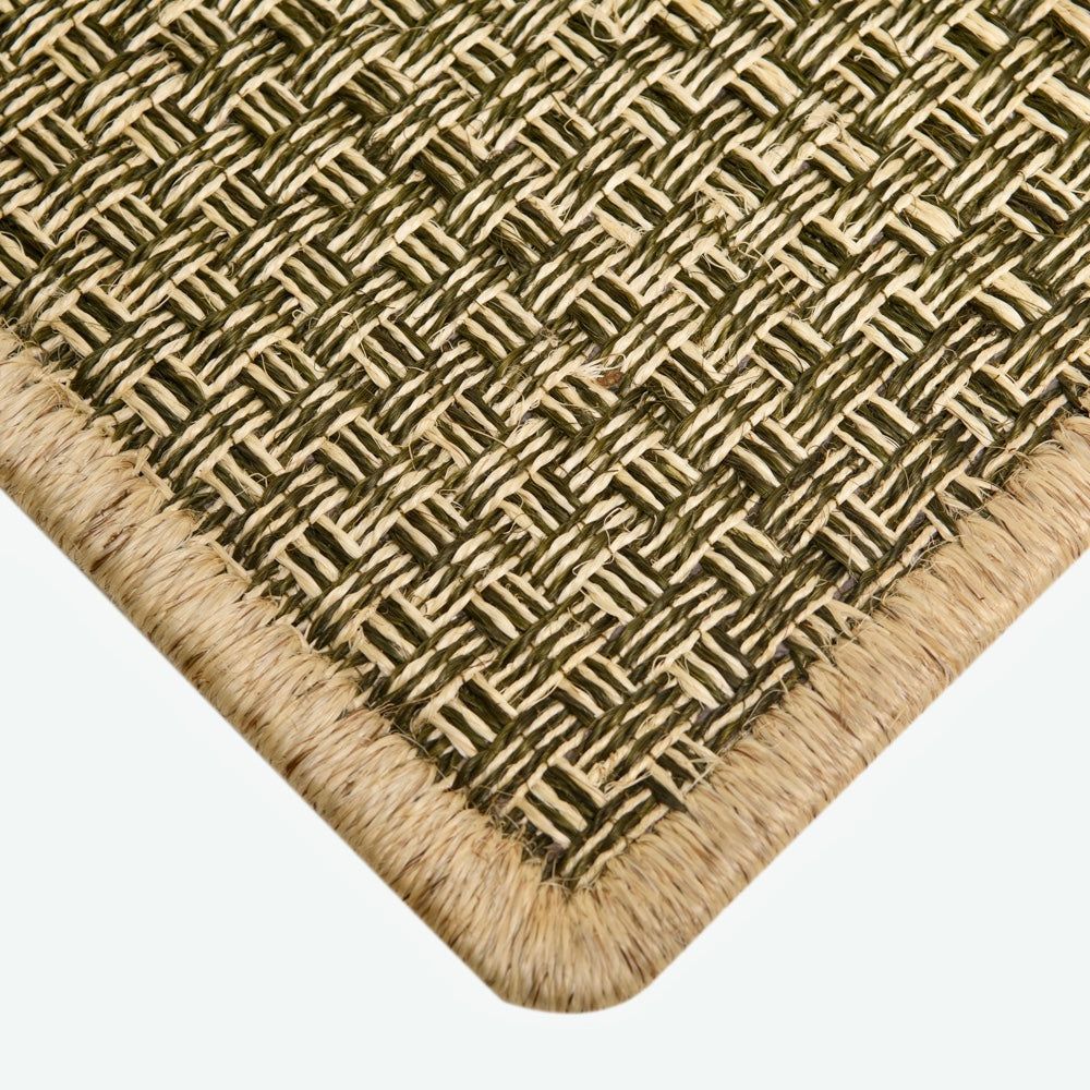 The Staple Rug - Sand and Olive green