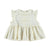 Baby Romantic sleeveless shirt with laces | Ecru