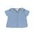 Baby Peter Pan collar blouse | Washed jeans