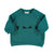 "Baby sweatshirt . Emerald with ""bowie"" print"