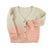 Baby knitted v-neck cardigan . Salmon tie dye