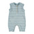light blue & grey stripes cotton fleece