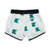 Baby swim shorts | off white w/ nautical flag emerald pattern