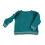 Baby knitted sweater . Emerald with coloured stripes