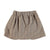 Short skirt w/ bow | taupe & garnet checkered