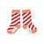 Socks | red & coral diagonal stripes