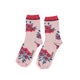 Socks | pale pink w/ flowers