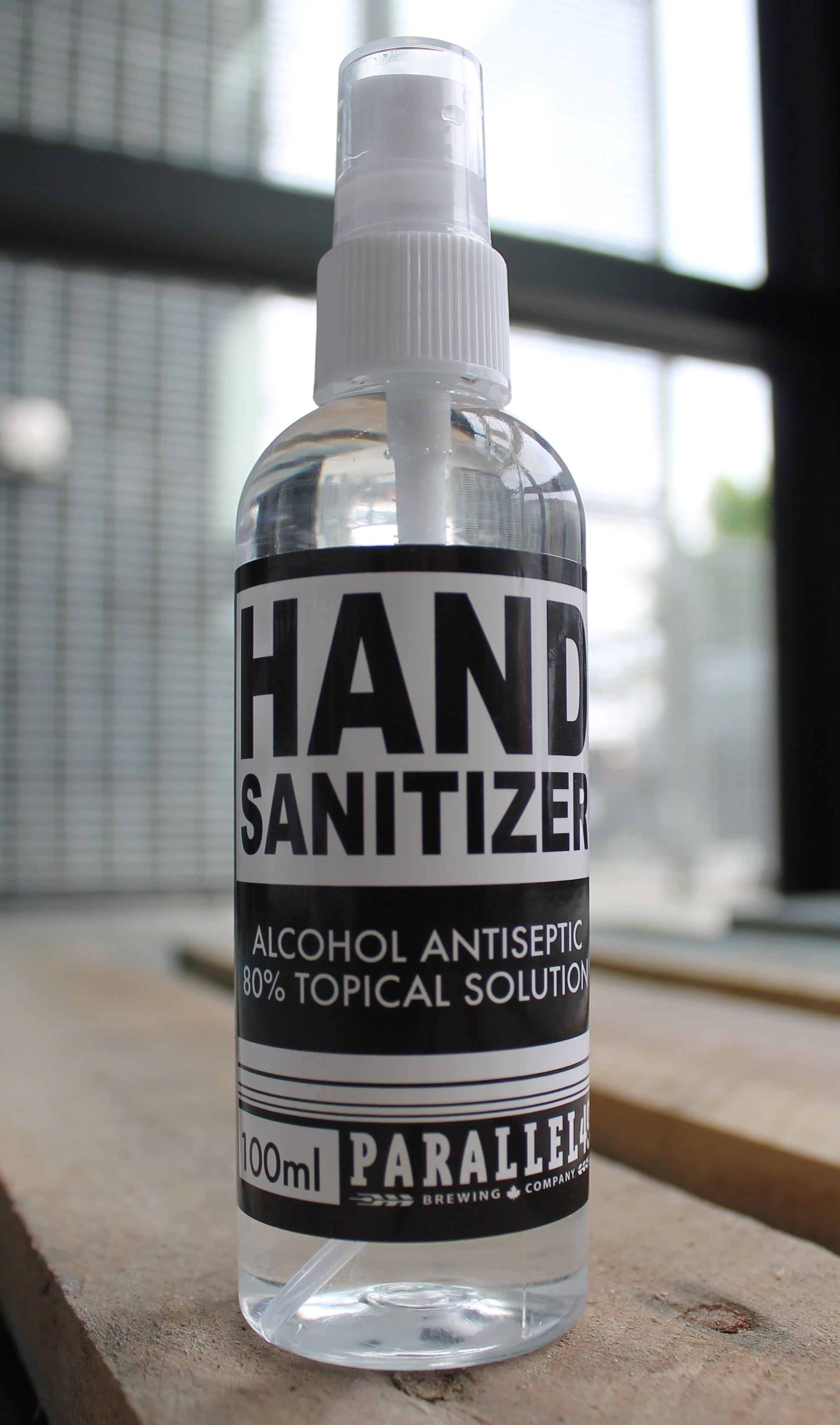 100ml P49 hand sanitizer (**free with any beer/Muddlers order over $50**)