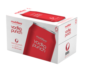 Muddlers Vodka Fruit Punch 355ml 6 Pack