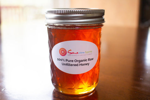 100% Pure Organic Raw Unfiltered Honey