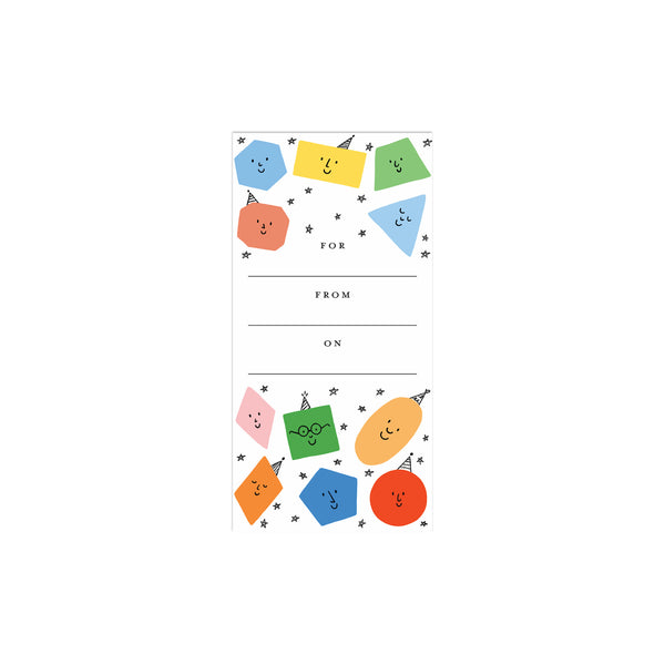 Colorful Shapes Book Plates