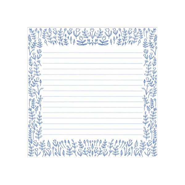 Blue Florals Desk Pad