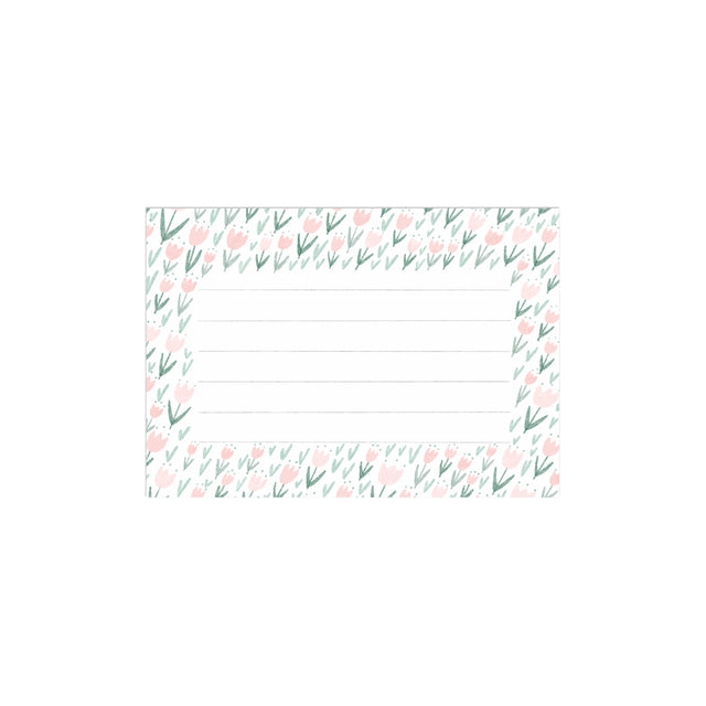 Pink Flowers Fancy Little Cards (Set of 10)