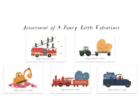 Favorite Vehicles Fancy Little Valentines (Set of 25)