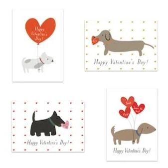 Dogs Fancy Little Valentines (Set of 25)