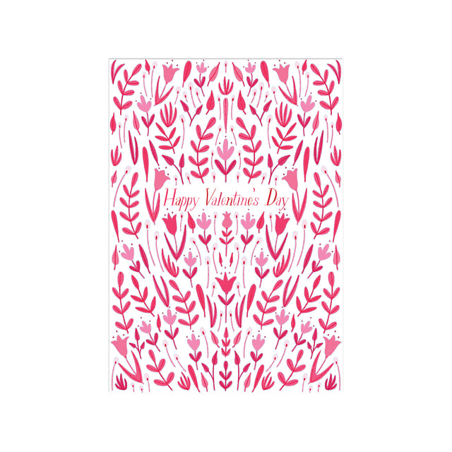 Pink and Red Floral Fancy Little Valentines (Set of 25)