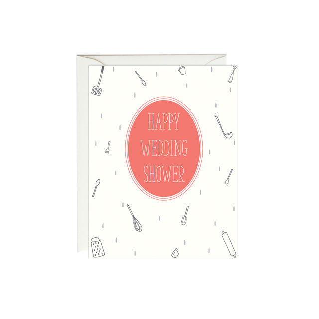 Bridal Shower Raining Utensils Card