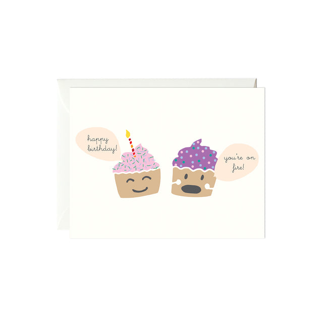 Happy Birthday Cupcake Card