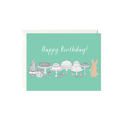 Happy Birthday Dessert Card