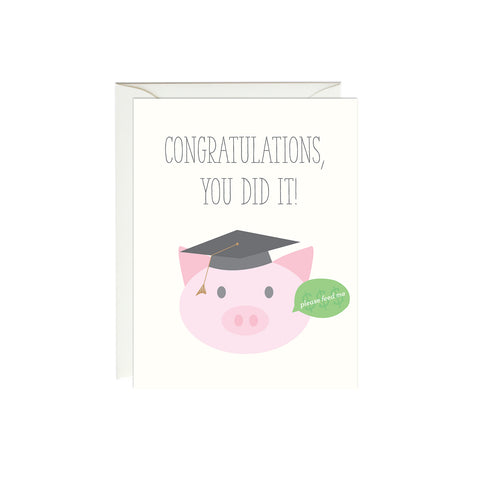 Feed the Pig Graduation Card