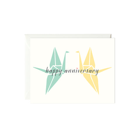 Happy Anniversary Cranes Card